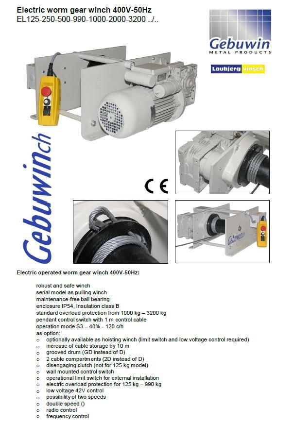 Elect worm gear 400V