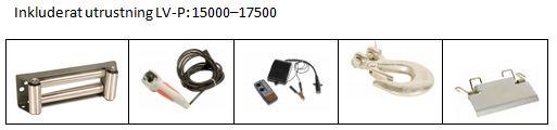 Inkluderat LV-P15000-LV-P17500