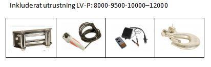 Inkluderat LV-P8000-12000
