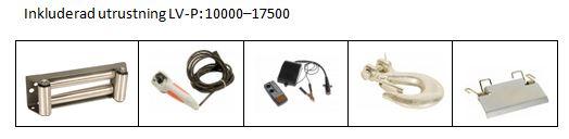 inkluderat utrustning LV-P10000-17500