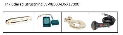 Inkluderad utrustning LV-X