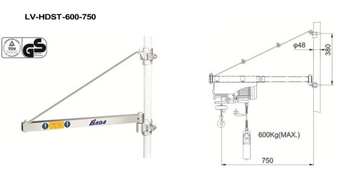 Kranarm LV-HDHST600-750