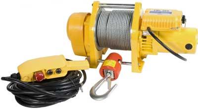 Toppen Snabb lyft-och dragvinsch,220V med lång kabel (10m) till manöverdon CQ-08